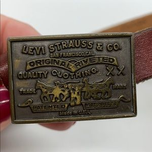 Levi's vintage thin leather belt with buckle.